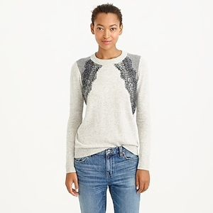 Lovely lace trim sweater from j crew!